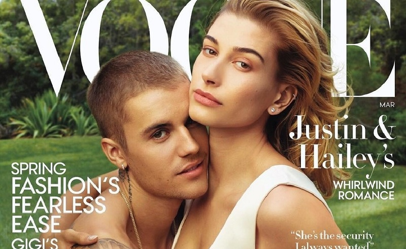 Bieber çifti ilk kez profesyonel çekimde