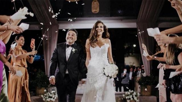 Arda Türkmen ve Melodi Elbirliler evlendi! İşte nikahtan ilk görüntüler